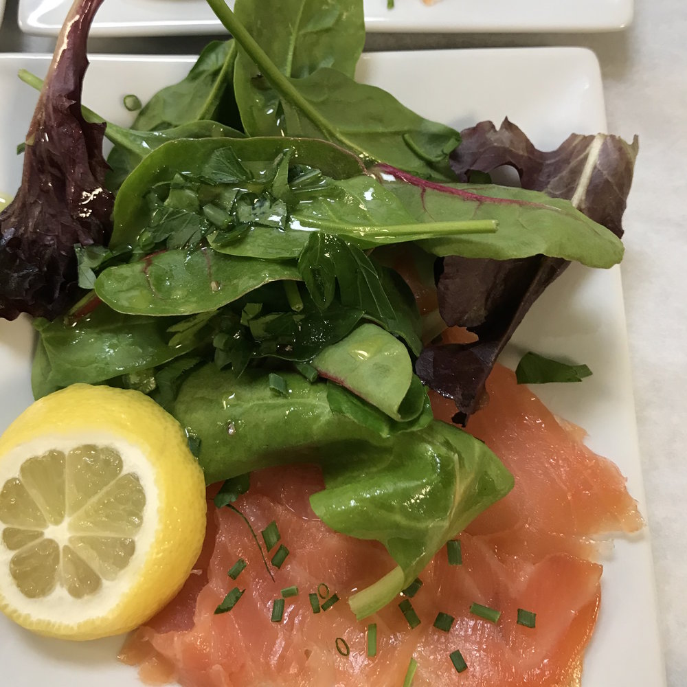 Smoked Salmon with Mesclun . Barefoot Contessa Parties! . Week 16