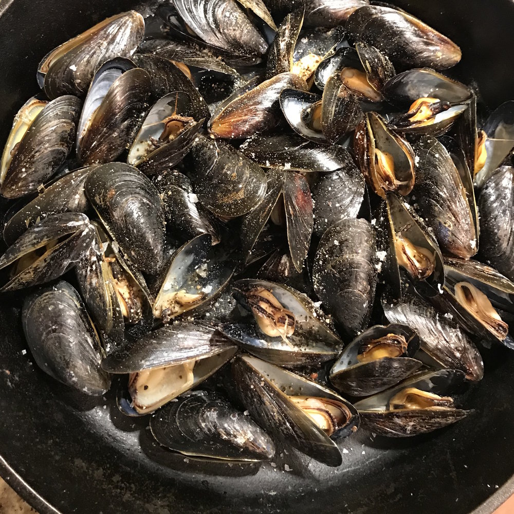 Mussels with Saffron Mayonnaise . Barefoot Contessa Foolproof . Week 18