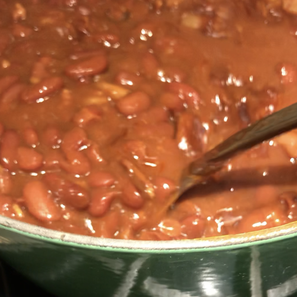 Maple Baked Beans . At Home . Week 19