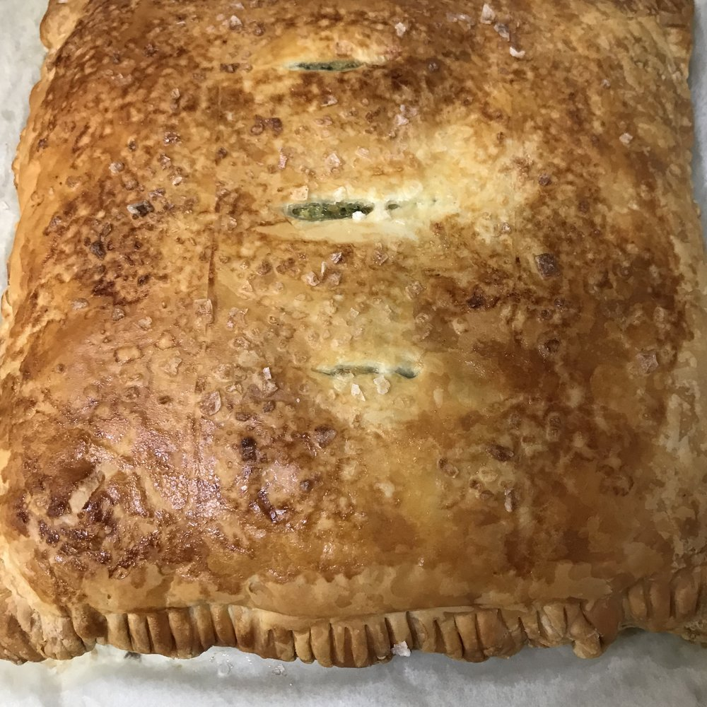 Spinach in Puff Pastry . Barefoot in Paris . Week 21