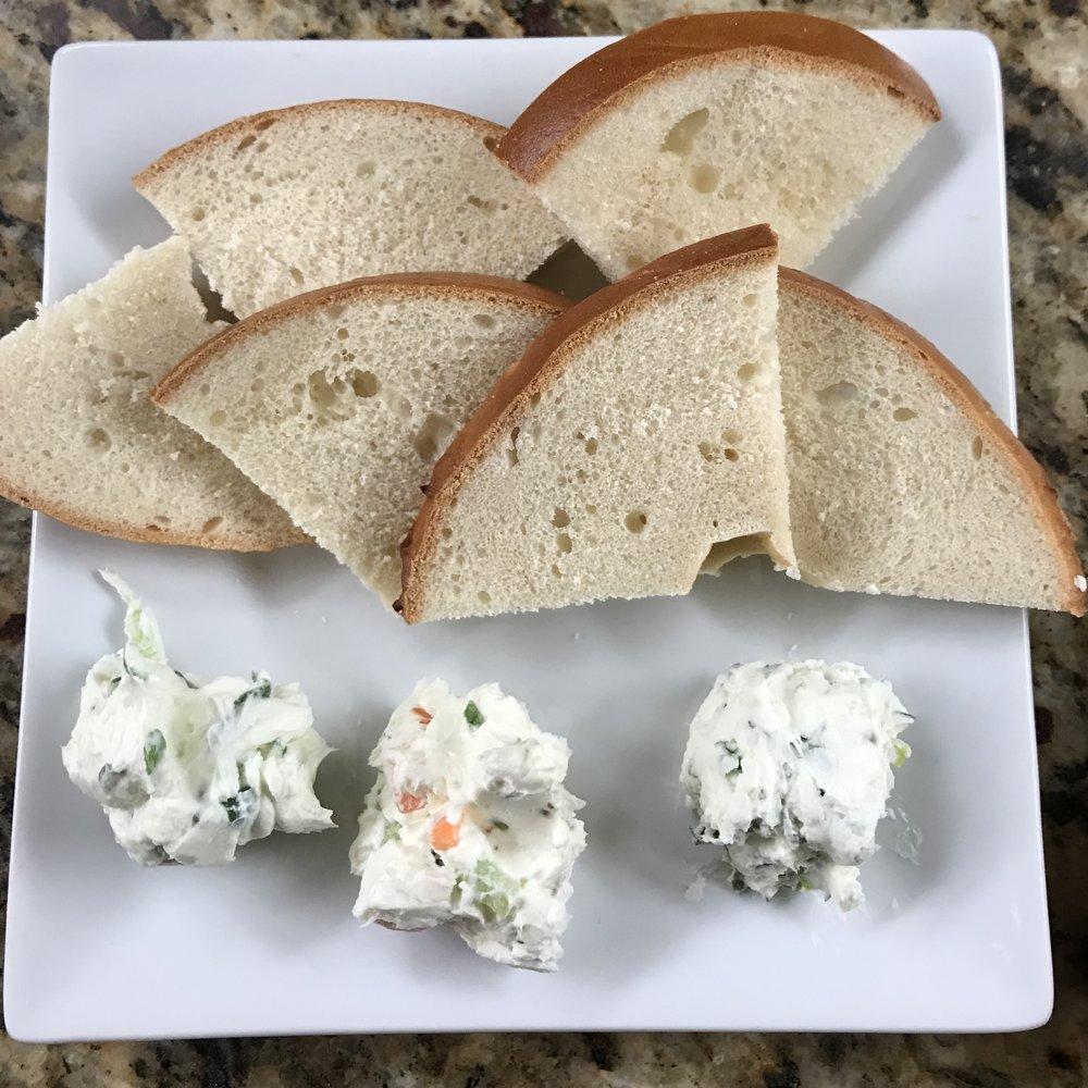 Vegetable Cream Cheese, Scallion Cream Cheese, and Garlic & Herb Cream Cheese . Family Style . Week 22