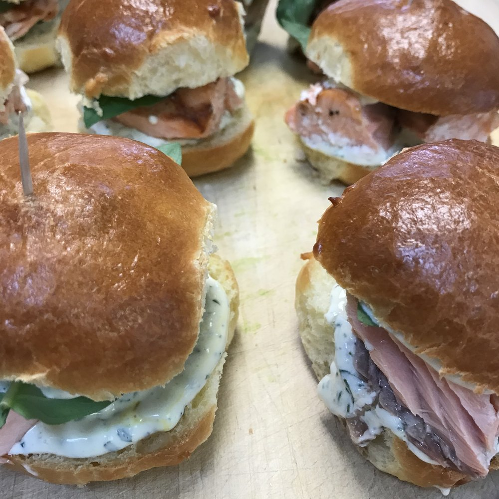 Grilled Salmon Sandwiches . Barefoot Contessa Parties! . Week 22