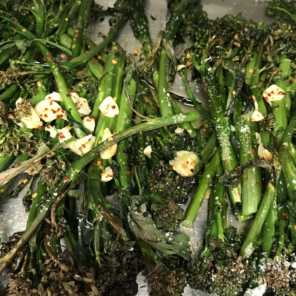 Broccoli Rabe with Garlic . At Home . Week 23