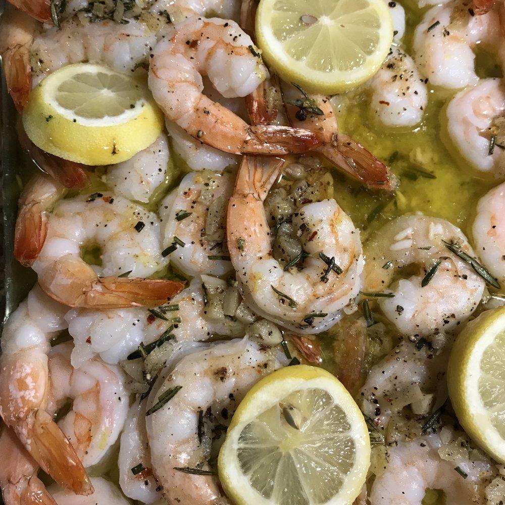 Garlic & Herb roasted Shrimp . Make It Ahead . Week 24
