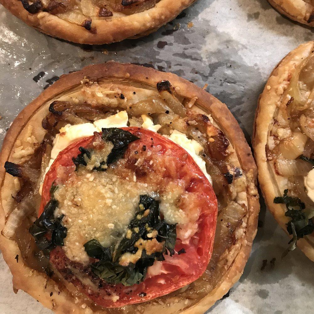 Tomato & Goat Cheese Tarts . Back to Basics . Week 25