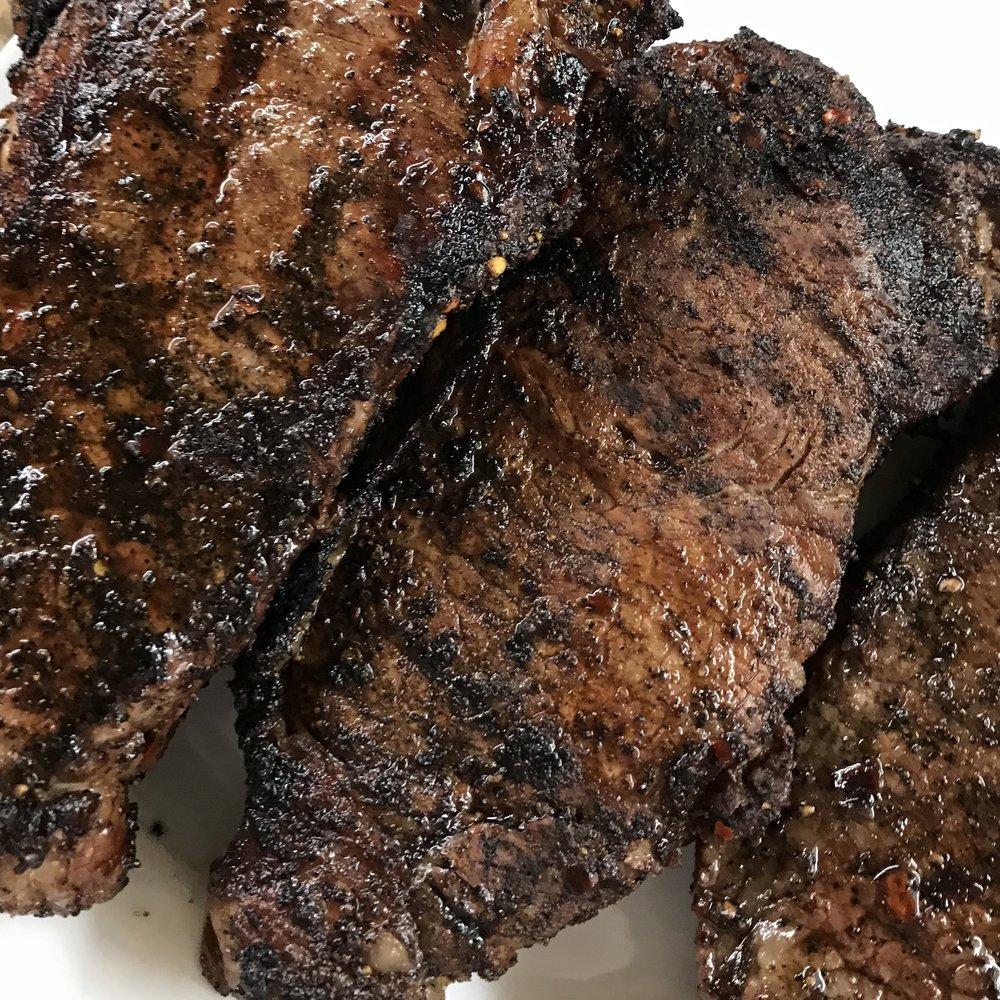 Grilled New York Strip Steaks . Make It Ahead . Week 26