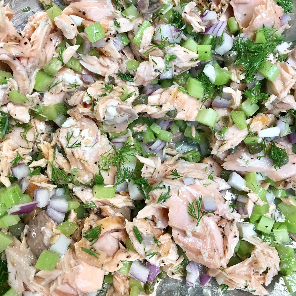 Grilled Salmon Salad . Barefoot Contessa Cookbook . Week 27