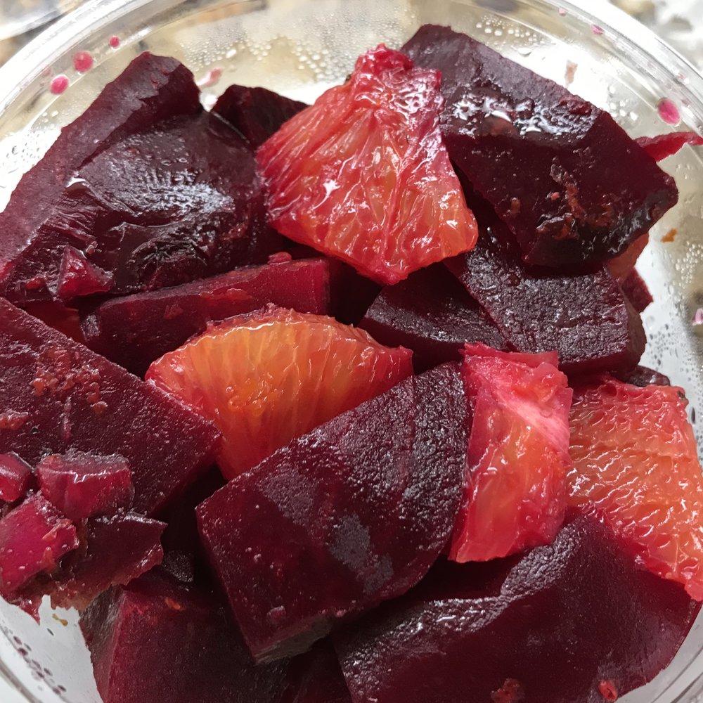 Beets with Orange Vinaigrette . Barefoot Contessa Cookbook . Week 28