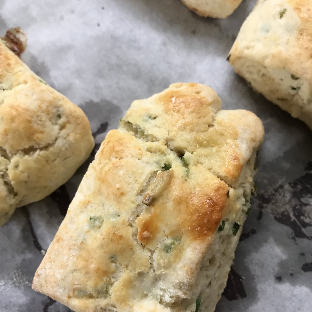 Chive Biscuits . Family Style . Week 28