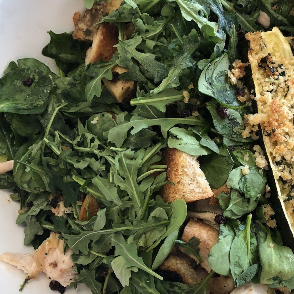 Roast Chicken with Bread & Arugula Salad . Make It Ahead . Week 28