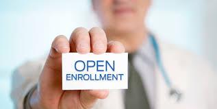 open enrollment business card