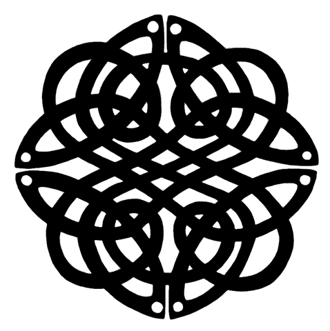 Celtic knot  Available as signed giclee print, 15cm sq (no mount)