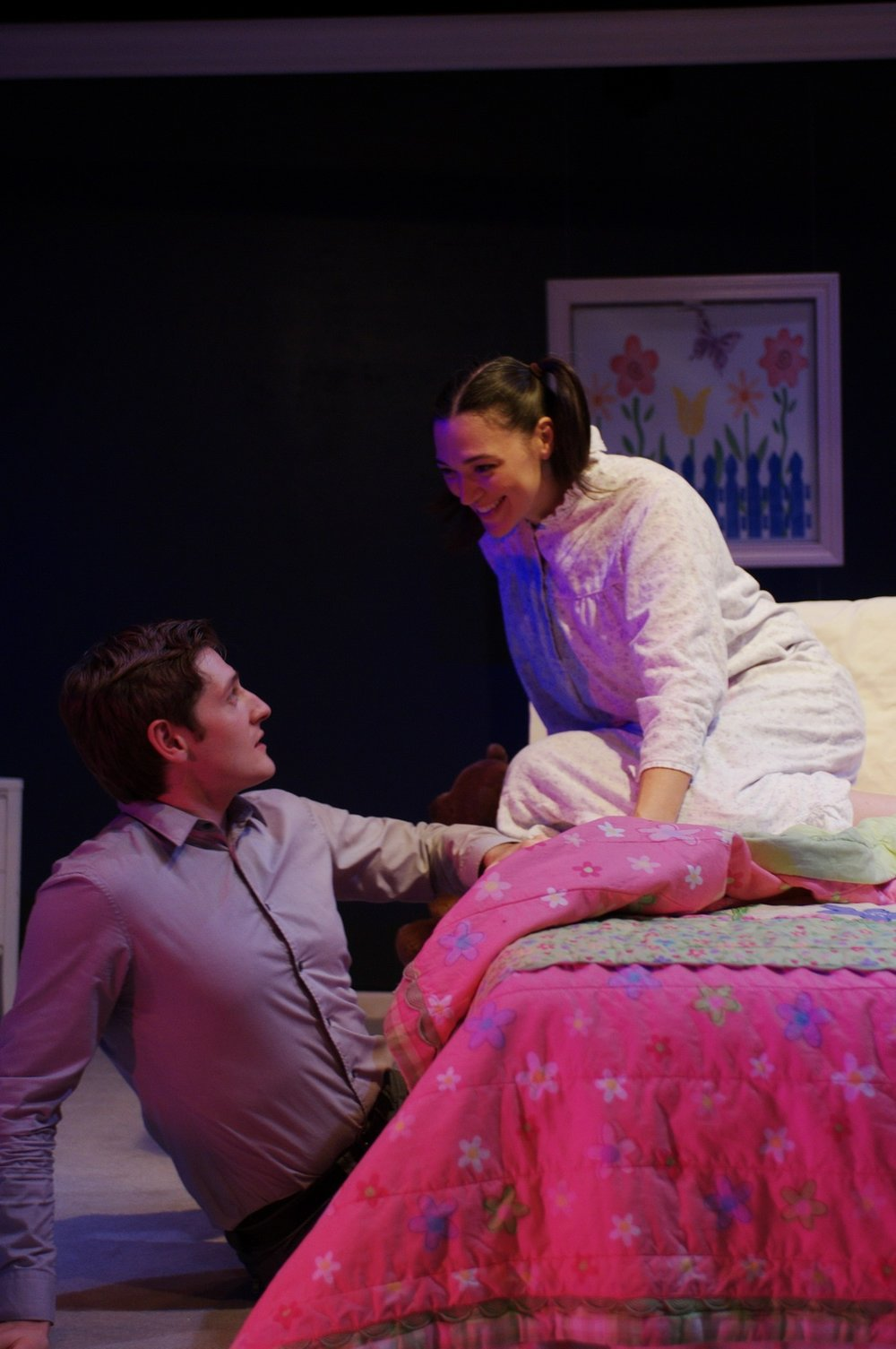 Lucas Neff and Elizabeth Laidlaw at Chicago Dramatists  photo by Jeff Pines