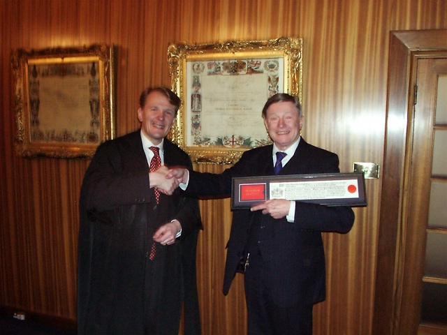 Receiving the Freedom of the City of London