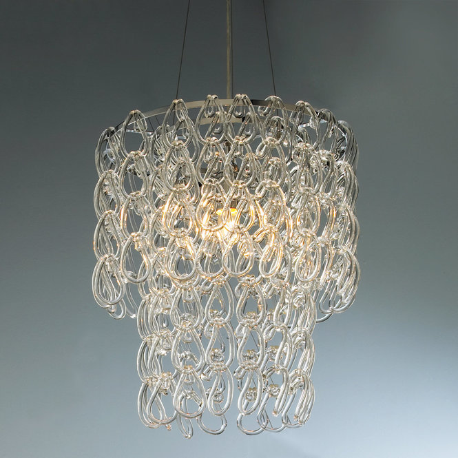 ROUND GLASS CHAIN CHANDELIER - Shades of Light  - $418
