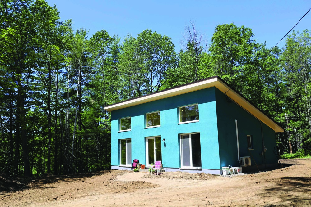 An in-progress shot of Acacia Fanto's open floor plan, Comfort Block (TM) home in Kittery.