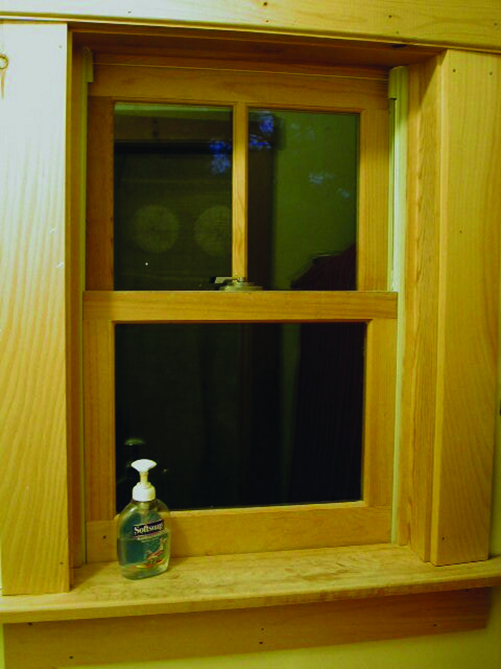 Window before insert is installed.
