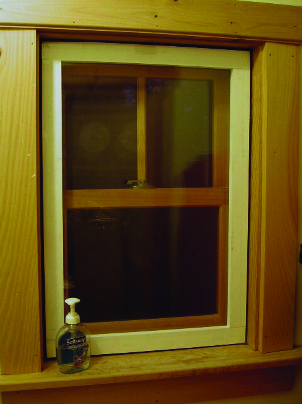Window after insert is installed.