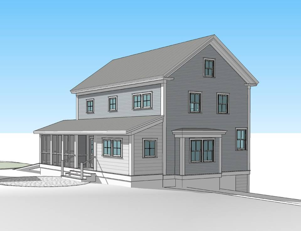 Rendering of a Pretty Good House remodel project by Michael Maines Residential Design (see next page for full details). Image courtesy of Michael Maines.