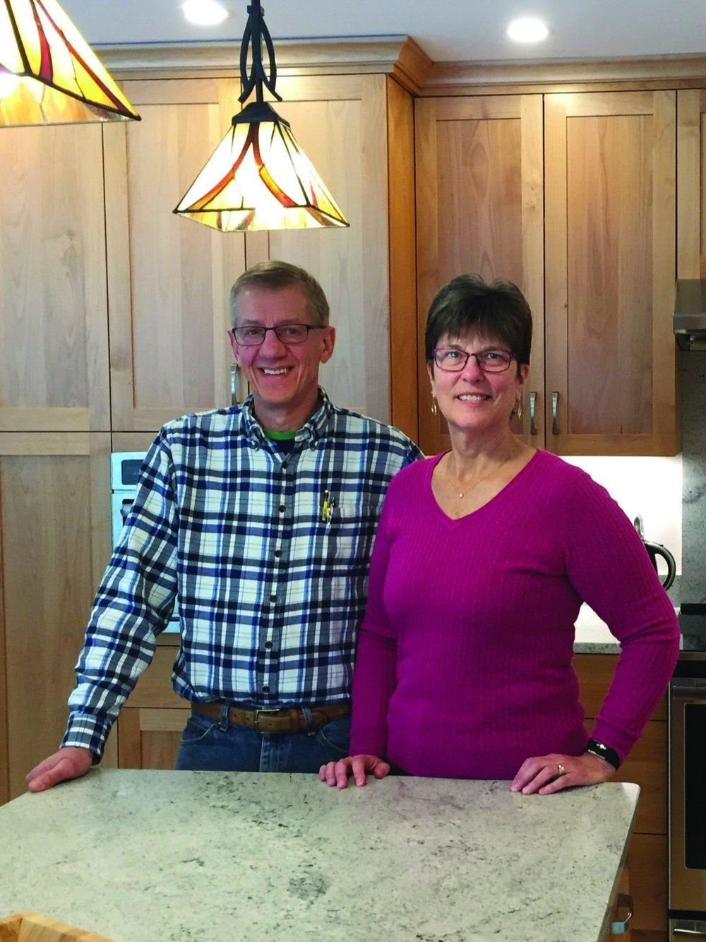 Homeowners, Steve and Cheryl Martin.
