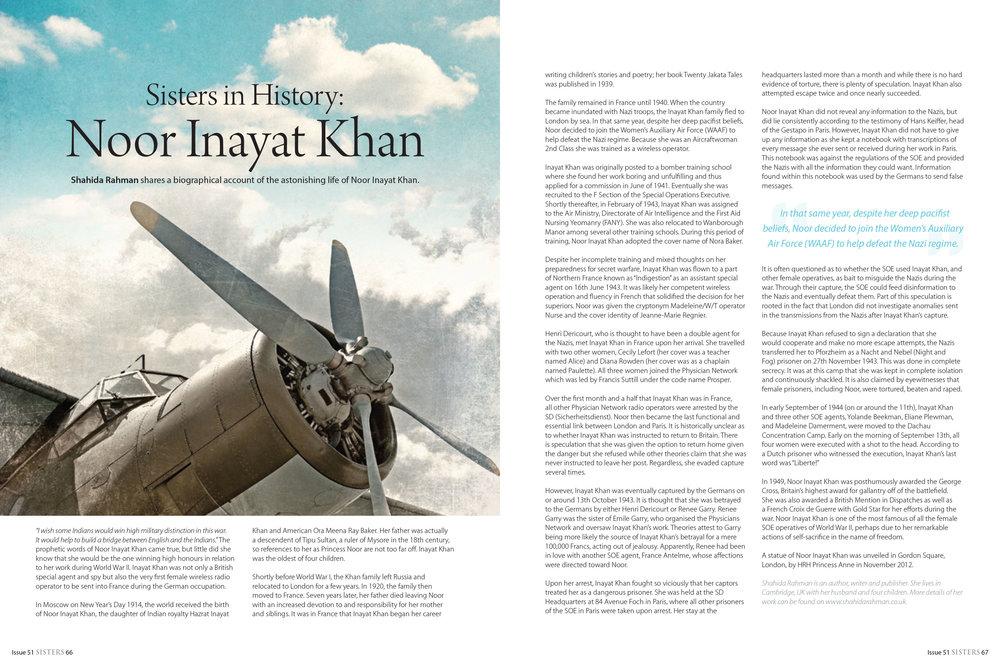Sisters in History: Noor Inayat Khan