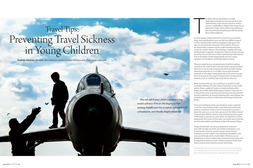 Preventing Travel Sickness in Young Children