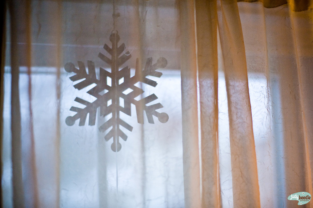 2/27 Oh, there's a snowflake in one of our windows I forgot was there!