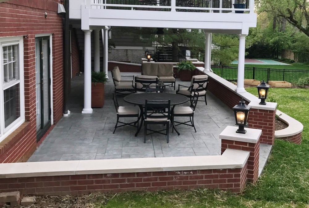 Patio Stamp Yorkstone Set, Butterfield Cape cod base color, Butterfield Slate gray release