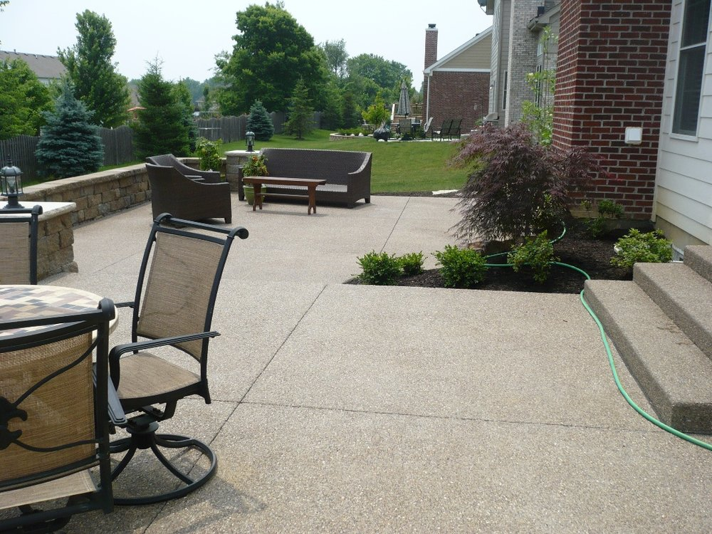 Exposed Aggregate Patio, Granite Wall6