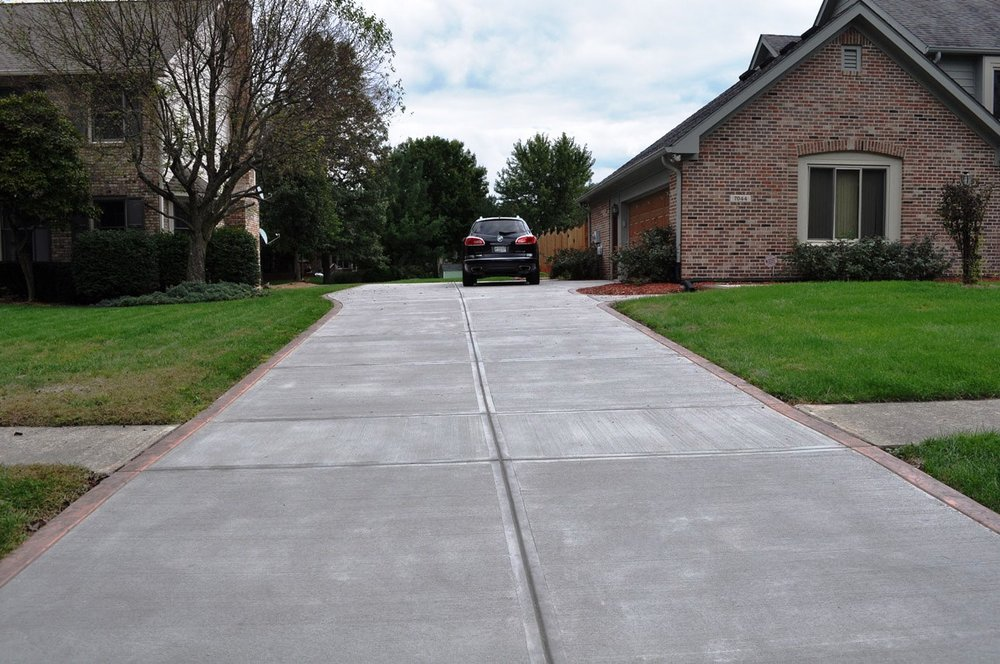 Broom driveway border, Roman slate texture, venetian pink base, liquid charcoal release 2