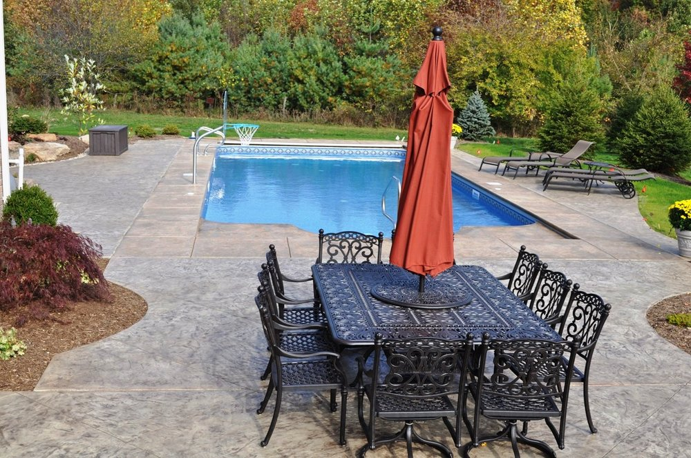 Italian Slate Texture Pool deck with Desert Sand color and Autumn Brown Release smaller