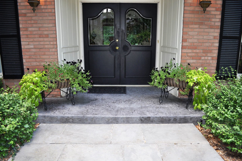 Entry, Textured Belguim slate, Platinum gray, Charcoal gray