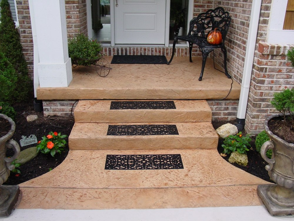 Old Granite Texture Entry and Steps with Desert Sand Color and Autumn Brown Release
