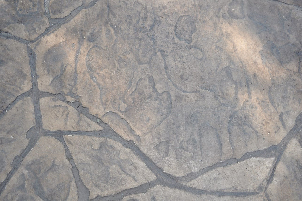 Arizona Flagstone pattern, Desert Sand, Dark Walnut