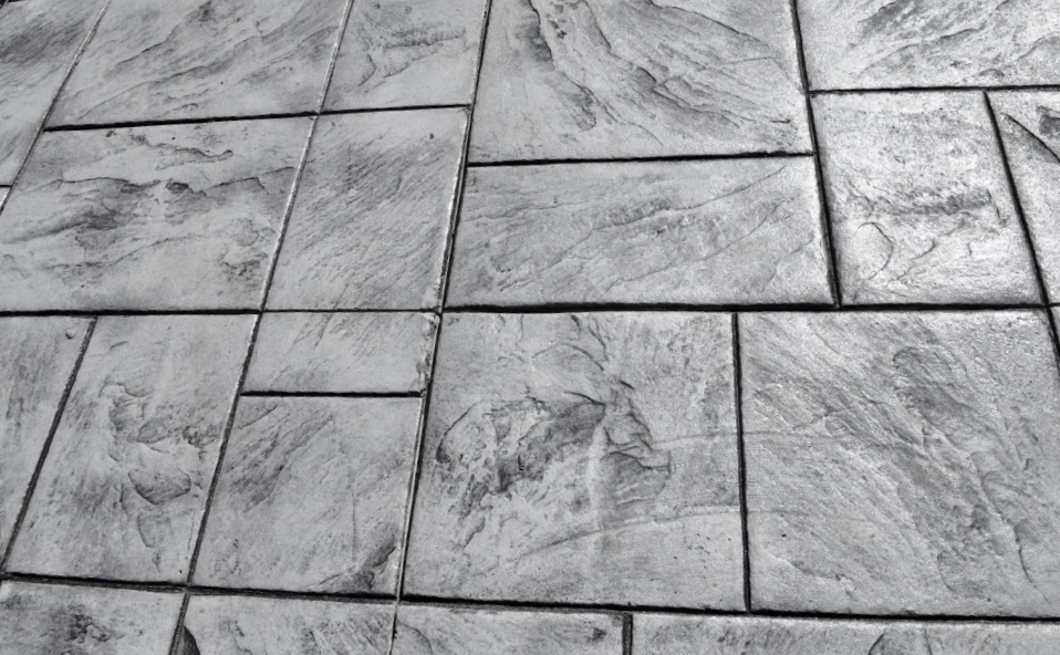 Ashlar Slate Stamp, sable color, charcoal gray release 4
