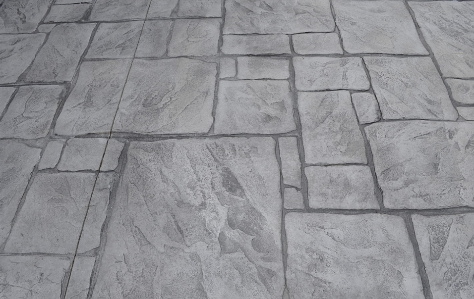 English yorkstone stamp, sable base, platinum gray release 3