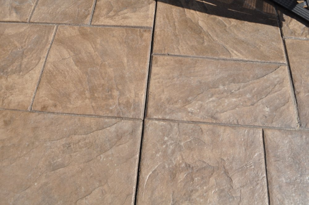 Large Ashlar Slate Texture, Mocha color, Autumn Brown release