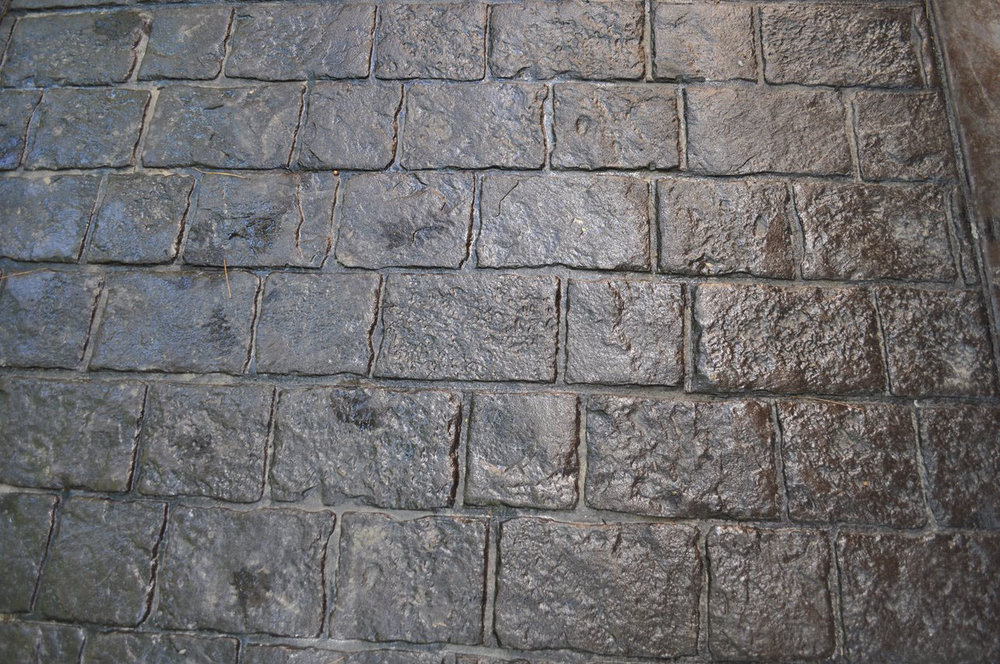Mayan Cobblestone pattern, Dark Walnut, Charcoal Gray