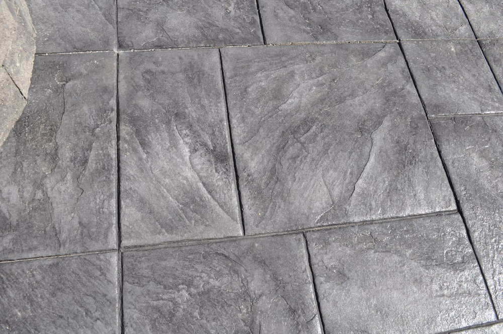 Stamped Large Ashlar pattern, Platinum Gray, Charcoal Gray