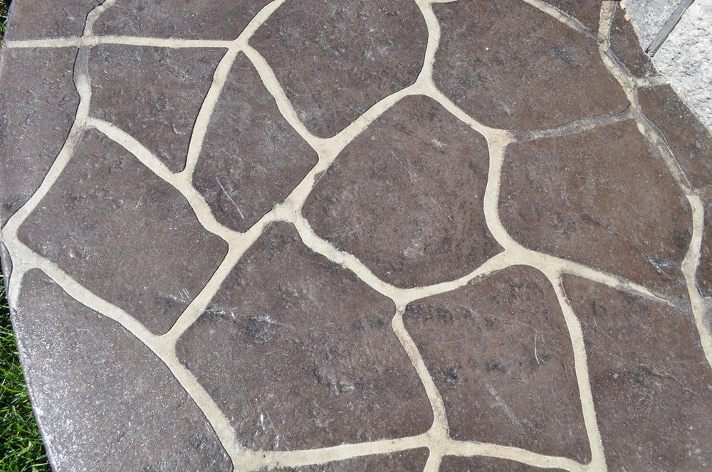 Flagstone stencil pattern, Dark Walnut, Charcoal Gray
