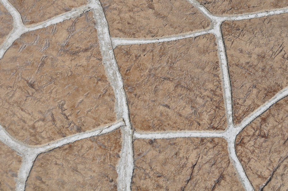 Flagstone stencil with a granite texture, Mocha color, Autumn brown release