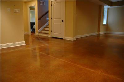 Acid stain basement 2