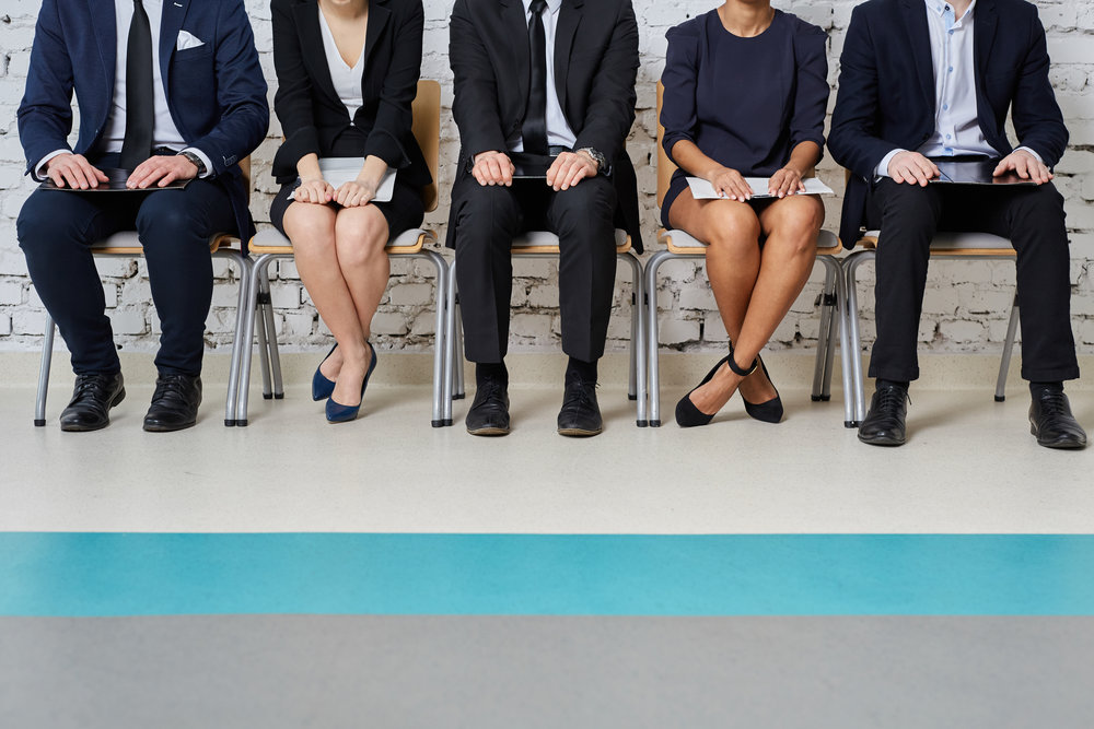 Business people waiting for job interview - human resources conc