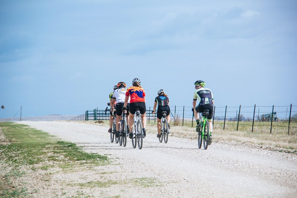 Gravel Cycling Day Camps - These 1-day training camps will take place on selected Saturdays at locations within a 1 hour drive of Wichita, KS. We will be riding over various gravel surfaces including in the rugged southern Flint Hills. These day camps will help prepare you physically and mentally for the rigors of your next gravel event. A typical day will include a 2-4 hour ride, and a discussion over topics such as: building fitness, improving riding skills over challenging terrain, nutrition, bike set up and gear selection, race strategies, mindset for improved performance, and much more. Cost is $50.00/person. Camp dates coming soon.