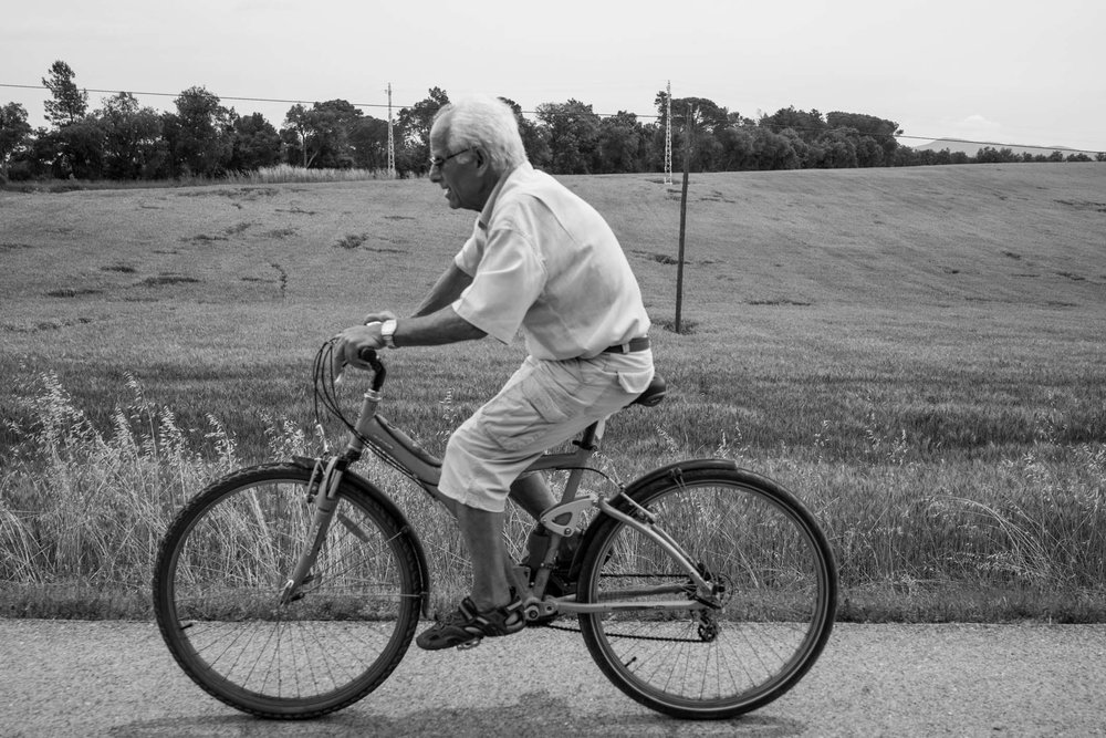 Cyclist in Girona