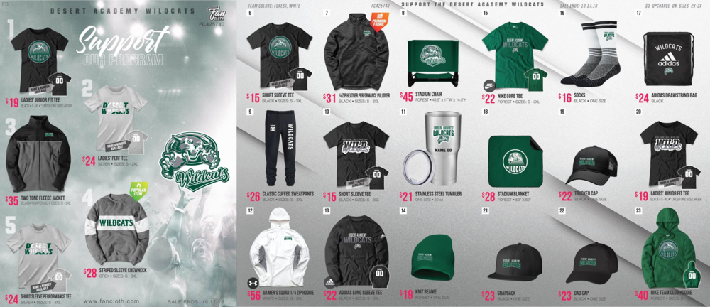 ff2e219c We have new Desert Academy spirit wear available for order now! The  pre-order window closes Wed, Sept. 26th at midnight. Place your order in  person at the ...