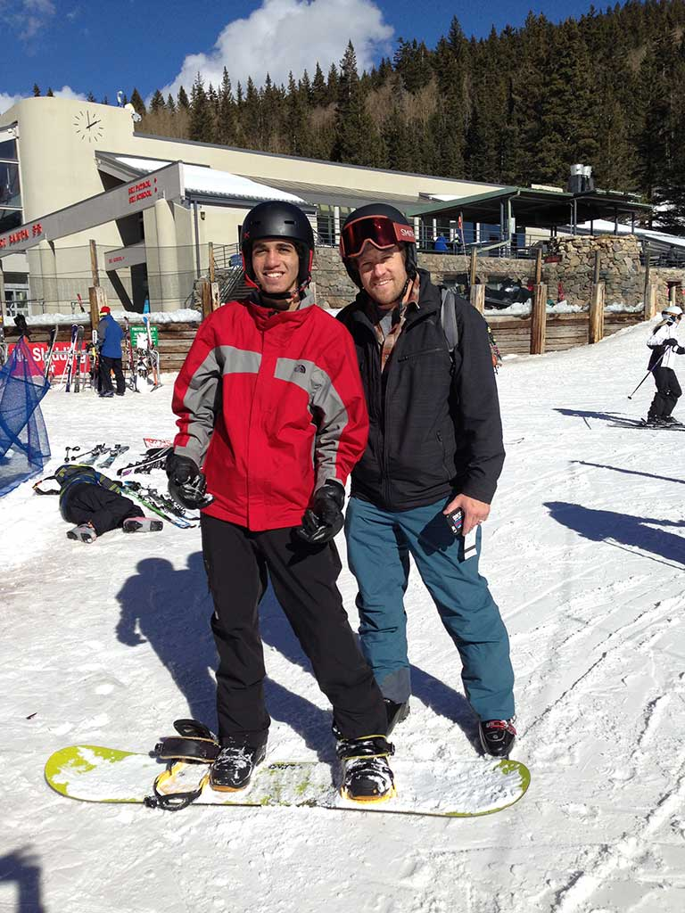 Moka & Phil - Moka Ali, from Egypt, at ski area with Phil Lucero, Athletic Director