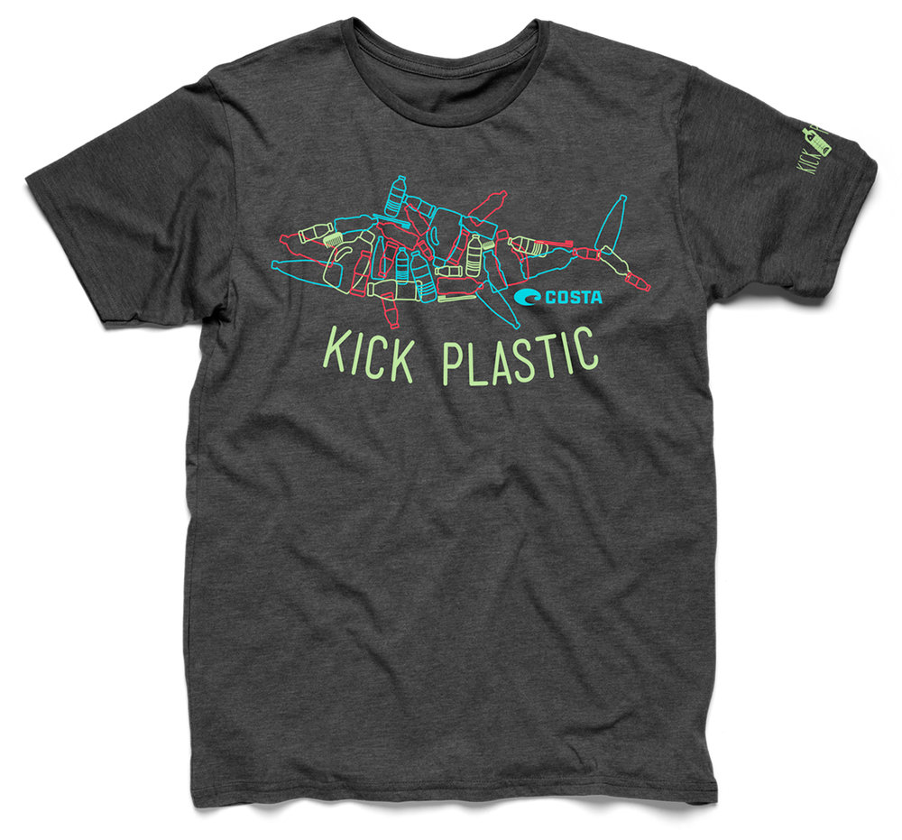 The bottle-fish design appeared on a t-shirt that was made from 100% recycled plastic fibers.