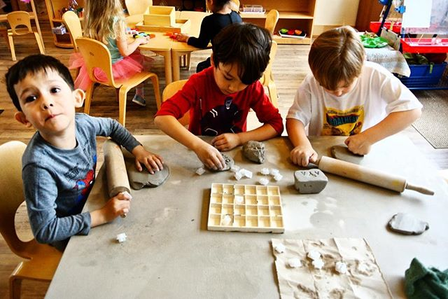 University Hill Students use clay to promote their own kinaesthetic learning. By manipulating clay with their hands and tools, they are fine tuning their muscular development for fine motor skills. Registration is still available for the 2019-2020 school year. Contact us if you or someone you know has preschool needs!