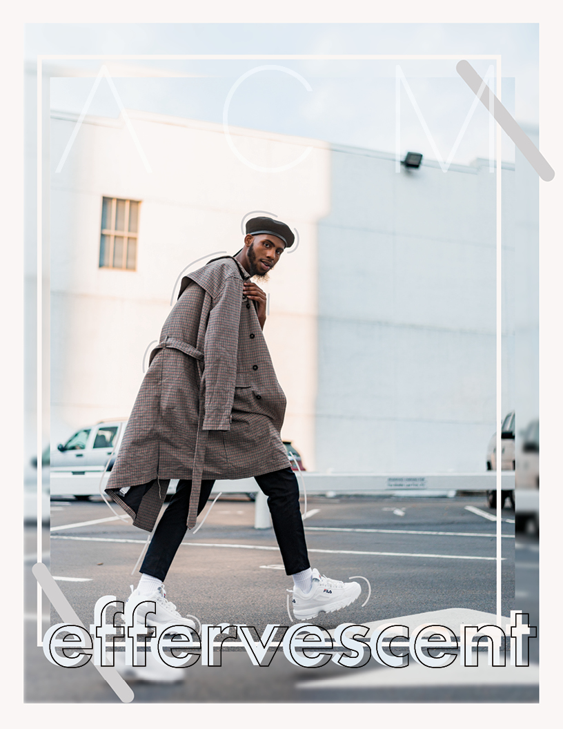 Art Concept Magazine 005: effervescent cover of Brandon Huntley, The.Vxsionary. Shot and designed by Caroline Japal